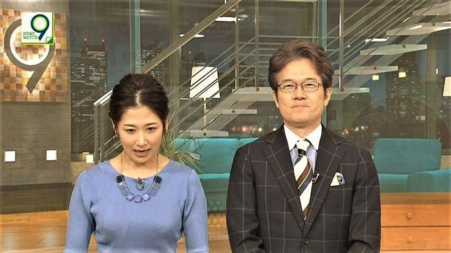 桑子真帆~ニュースウォッチ9で異常にオッパイが盛り上がっている時って何故?0009shikogin