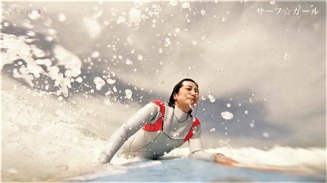 笹崎里菜~サーフ☆ガールでの透けブラとピッタリウェットスーツ姿が極エロで興奮!0007shikogin