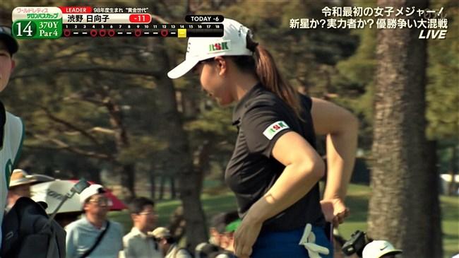 渋野日向子~Fカップでパンパンに張った胸元がエロ過ぎてプレイに集中出来ない!0011shikogin