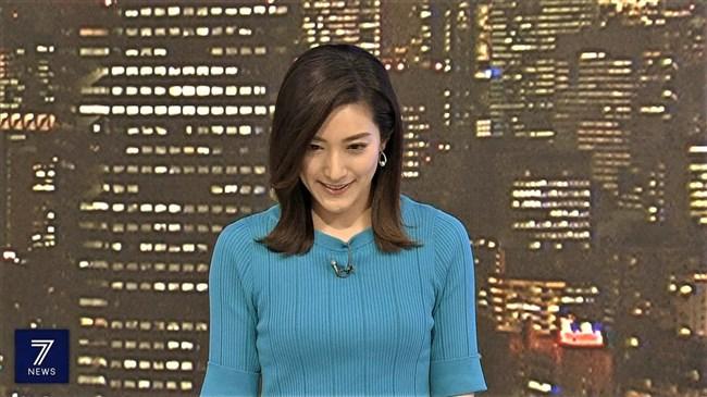 上原光紀~NHKニュース7にてニット服で窮屈そうに抑えつけられているオッパイ!0011shikogin