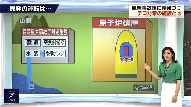 上原光紀~NHKニュース7にてニット服で窮屈そうに抑えつけられているオッパイ!0004shikogin