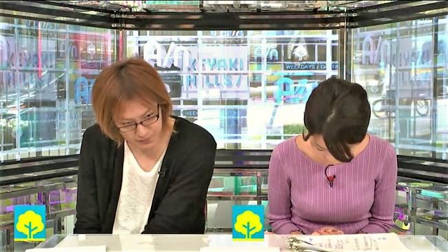 大木優紀~AbemaNewsでのニット服姿の胸元が巨大過ぎてエロさしか感じない!0006shikogin