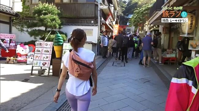 安田美沙子~NHKの薄いピタパン姿で透けたパンティー丸見えで走る番組に出演!0007shikogin