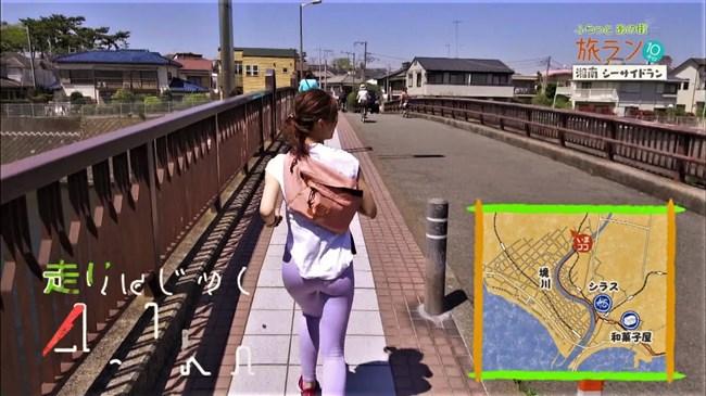 安田美沙子~NHKの薄いピタパン姿で透けたパンティー丸見えで走る番組に出演!0009shikogin