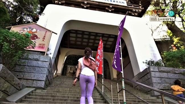 安田美沙子~NHKの薄いピタパン姿で透けたパンティー丸見えで走る番組に出演!0010shikogin