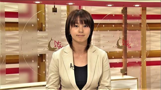 杉浦友紀~NHK名古屋局に勤務していた当時の初々しい姿でもオッパイはデカかった!0002shikogin