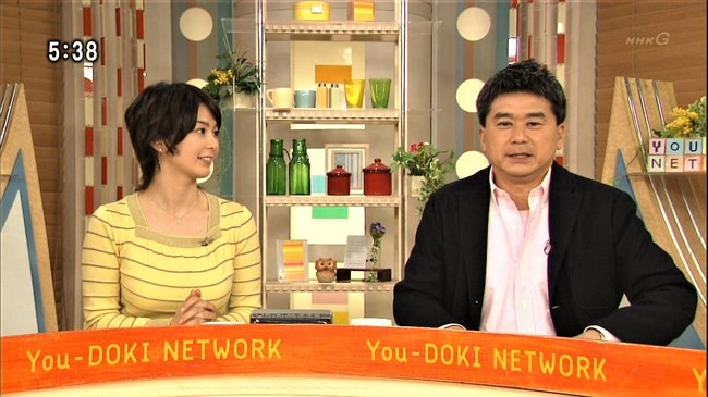 杉浦友紀~NHK名古屋局に勤務していた当時の初々しい姿でもオッパイはデカかった!0003shikogin