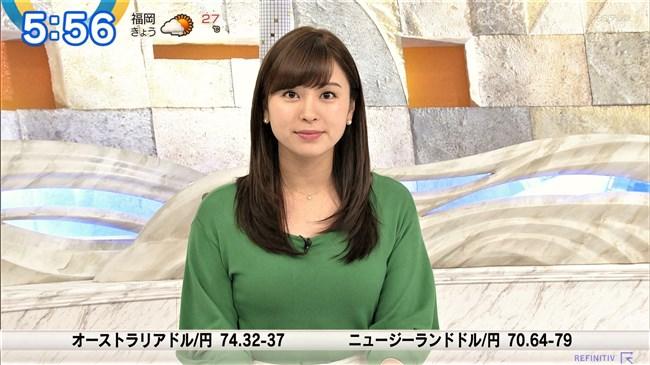 角谷暁子~ニュースモーニングサテライトでの横チチ凄!こんなにデカかった!0007shikogin