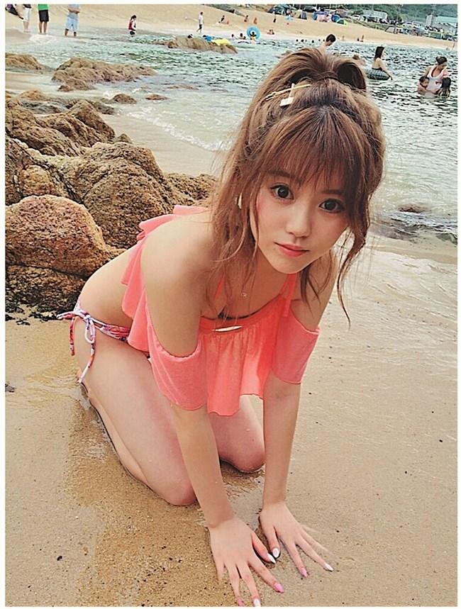 中野恵那~ヤングジャンプの初水着グラビアはスレンダー美人な感じが最高!0003shikogin