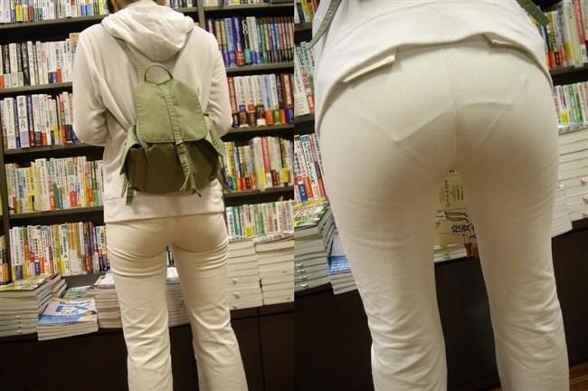 パツパツの白パンツにデカいお尻を突っ込むと必ずこうなるwwwww0025shikogin