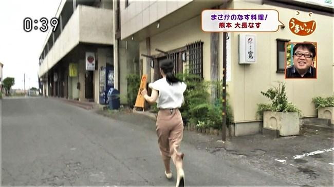 畠山衣美~NHK熊本の美人アナがムッチリヒップにパン線クッキリを見せた!0008shikogin