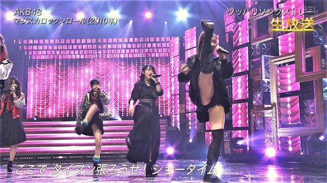 須田亜香里[SKE48]~日テレTHE MUSIC DAYで開脚し過ぎてまさかのマンチラ!?0003shikogin