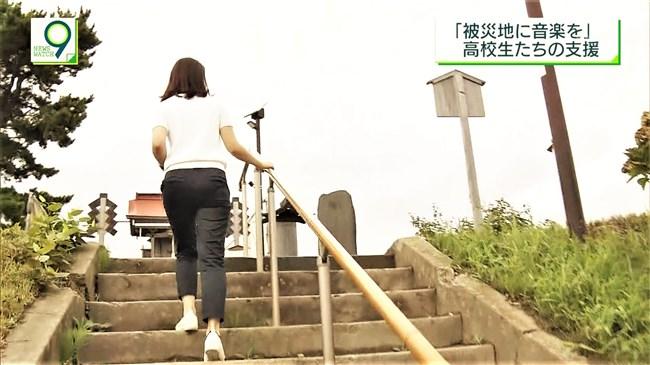 桑子真帆~ニュースウオッチ9の宮城ロケでのオッパイの膨らみと階段でのパン線!0010shikogin