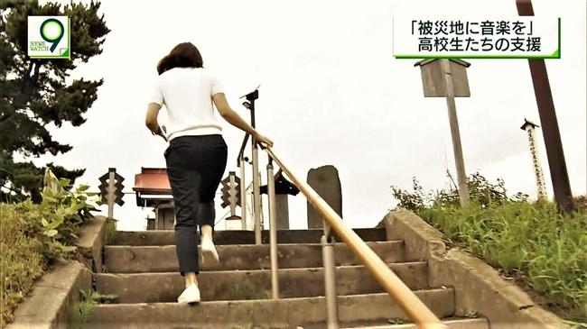 桑子真帆~ニュースウオッチ9の宮城ロケでのオッパイの膨らみと階段でのパン線!0011shikogin