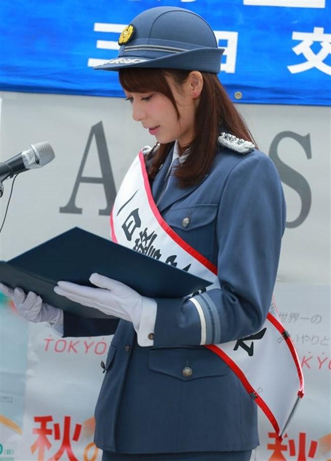 宇垣美里~一日警察署長就任でカメコが100人以上現れ周辺は大混雑!やっぱ超可愛い!0009shikogin
