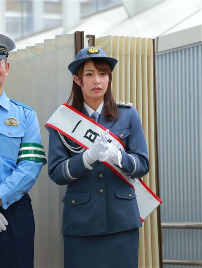 宇垣美里~一日警察署長就任でカメコが100人以上現れ周辺は大混雑!やっぱ超可愛い!0002shikogin
