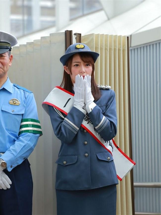 宇垣美里~一日警察署長就任でカメコが100人以上現れ周辺は大混雑!やっぱ超可愛い!0004shikogin