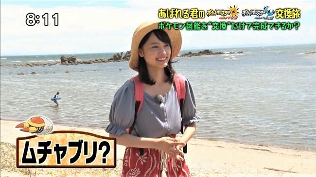 大谷凜香~ポケモンの家あつまる出演時の胸チラと付け根まで見えた悩ましい太もも!0002shikogin