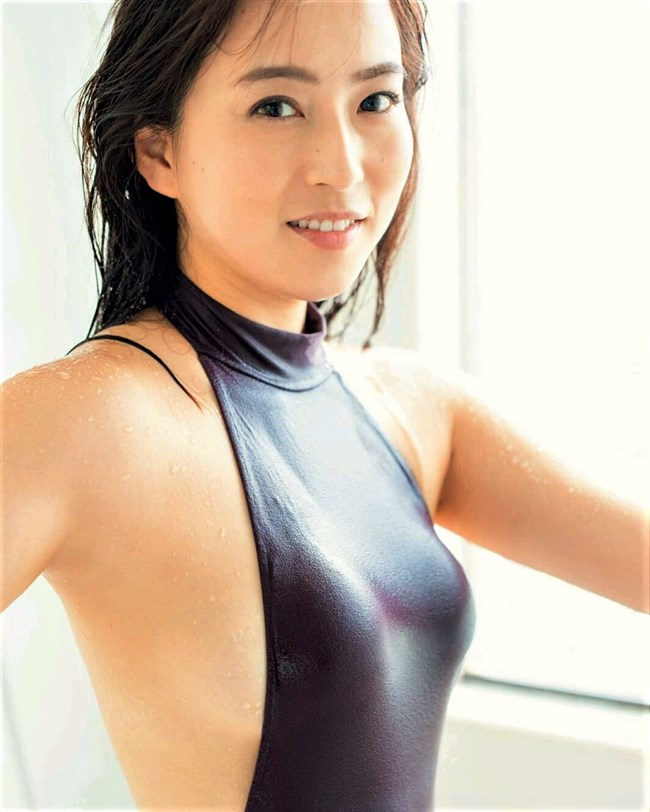 薄井しお里~元女子アナの超エロい最新の水着&下着グラビアはオナネタとして極上!0006shikogin
