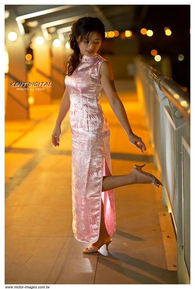 サイドの深いスリットが妙にえちえちなチャイナドレスの魅力www0018shikogin