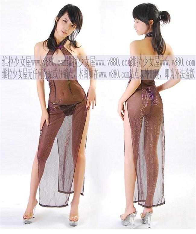 サイドの深いスリットが妙にえちえちなチャイナドレスの魅力www0022shikogin