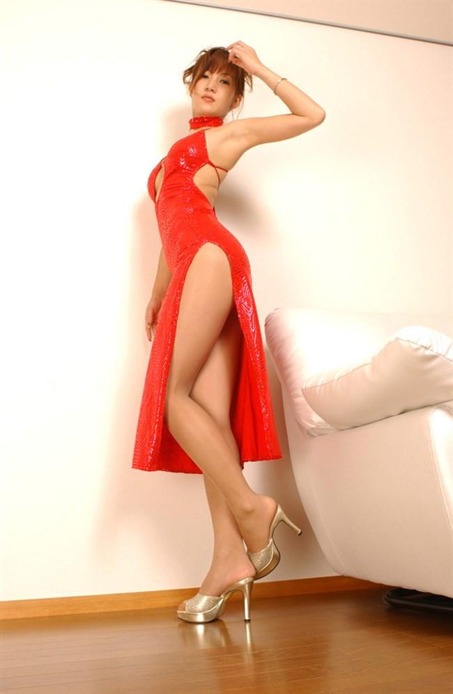 サイドの深いスリットが妙にえちえちなチャイナドレスの魅力www0007shikogin