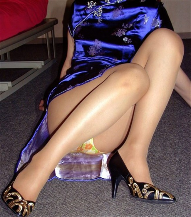 サイドの深いスリットが妙にえちえちなチャイナドレスの魅力www0008shikogin