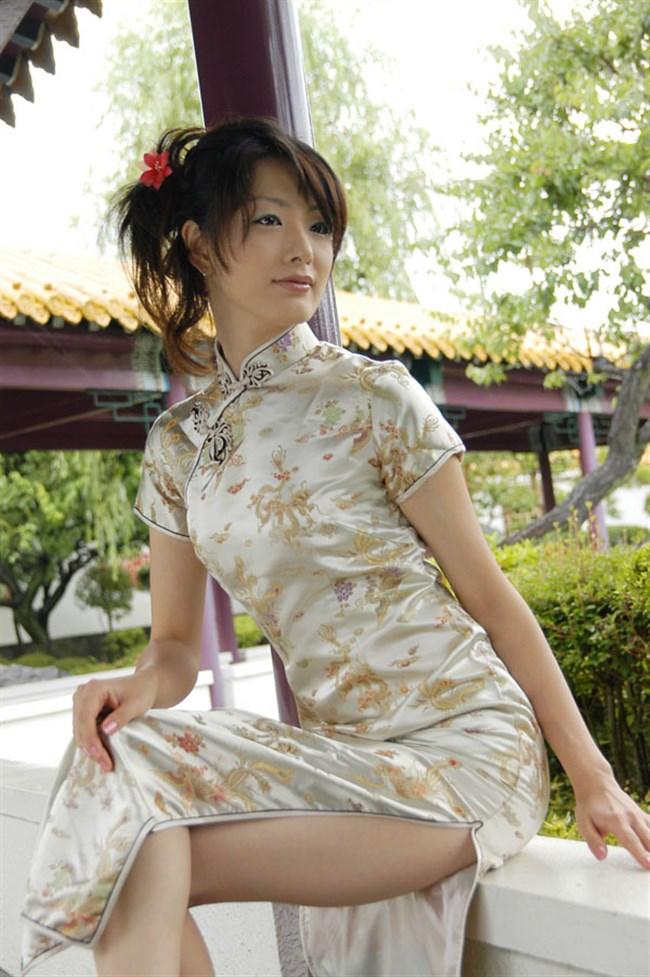 サイドの深いスリットが妙にえちえちなチャイナドレスの魅力www0013shikogin