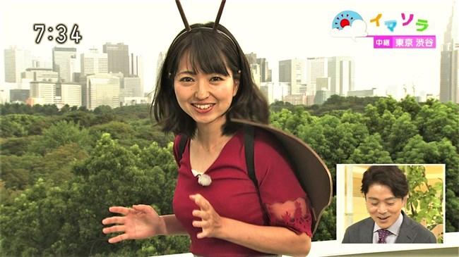 福岡良子~NHKおはよう日本でピッタリタイツで胸の膨らみを見せたコオロギ姿が最高!0002shikogin