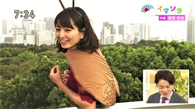 福岡良子~NHKおはよう日本でピッタリタイツで胸の膨らみを見せたコオロギ姿が最高!0007shikogin
