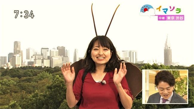 福岡良子~NHKおはよう日本でピッタリタイツで胸の膨らみを見せたコオロギ姿が最高!0009shikogin