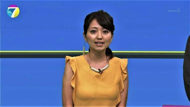 福岡良子~NHKおはよう日本でピッタリタイツで胸の膨らみを見せたコオロギ姿が最高!0011shikogin