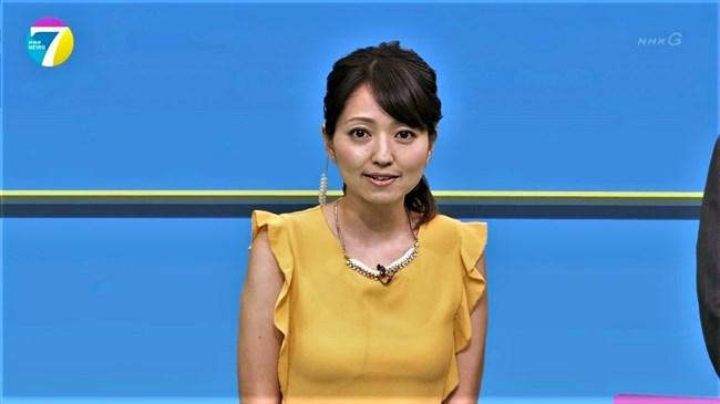 福岡良子~NHKおはよう日本でピッタリタイツで胸の膨らみを見せたコオロギ姿が最高!0012shikogin