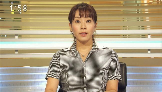 實石あづさ~NHKの美熟女アナ、オッパイの膨らみがパンパンな感じで超興奮させるぞ!0006shikogin