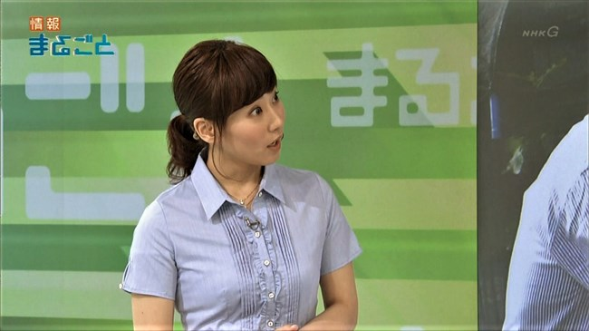 實石あづさ~NHKの美熟女アナ、オッパイの膨らみがパンパンな感じで超興奮させるぞ!0009shikogin