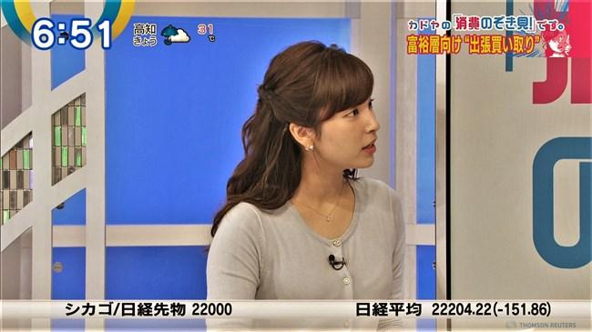 角谷暁子~ニュースモーニングサテライトでいつになくオッパイの膨らみが凄かった!0011shikogin