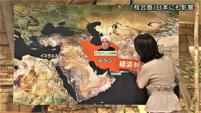 小川彩佳~報道ステーションでの背中にクッキリ出たブラ線が悩ましくてドキドキ!0007shikogin