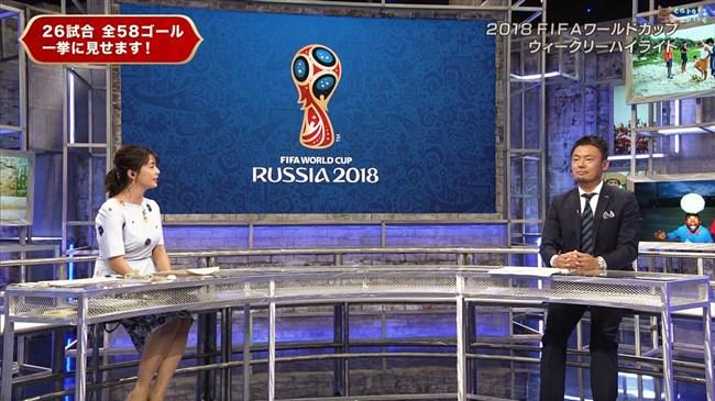 杉浦友紀~サッカーWC番組でも豊かな胸の膨らみを強調して真面目にエロい雰囲気!0007shikogin