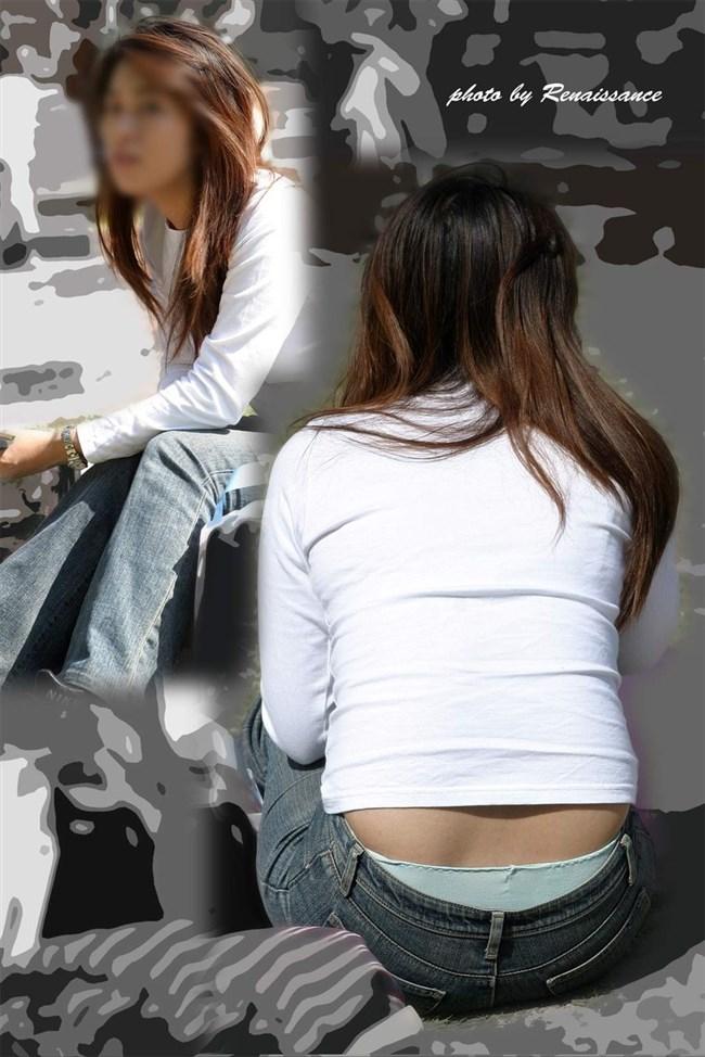ローライズパンツでしゃがむからパンモロしてる素人女性がえちえちwwwww0034shikogin