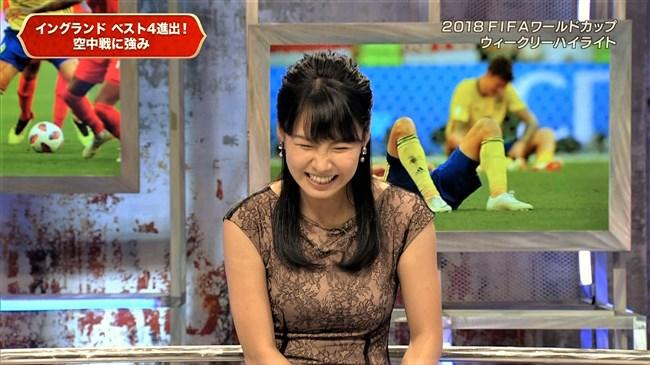 澤田彩香~FIFAワールドカップ番組でのオッパイを強調した姿が凄くエロかった!0004shikogin