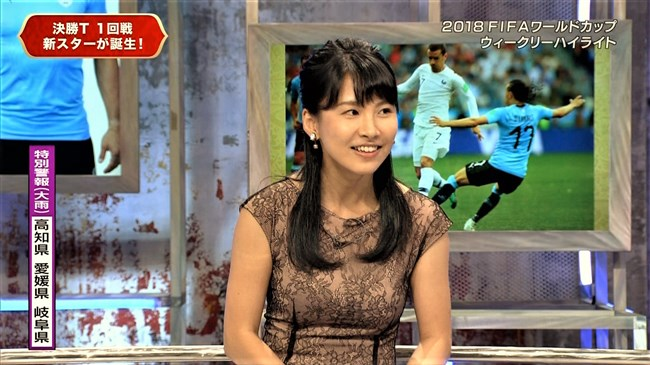 澤田彩香~FIFAワールドカップ番組でのオッパイを強調した姿が凄くエロかった!0008shikogin