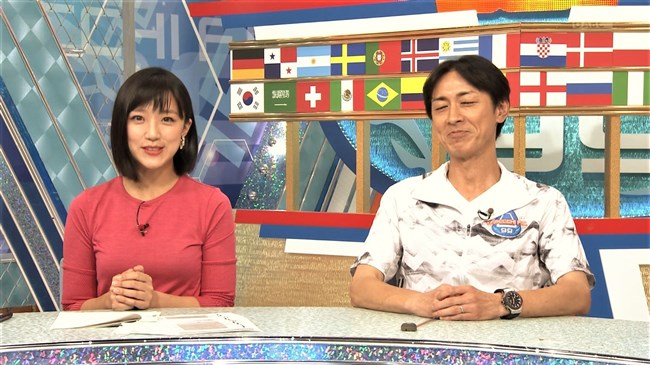 竹内由恵~やべっちFCでのプックリ胸の膨らみとスーパーJチャンネルの透け衣装!0004shikogin