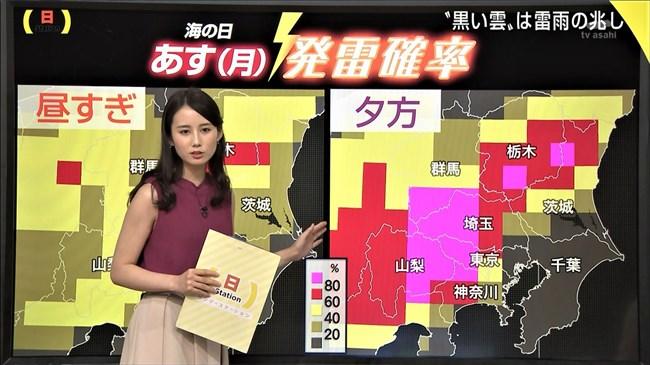 森川夕貴~報道ステーションでのノースリーブ胸の膨らみは女子アナ界で最強!0009shikogin