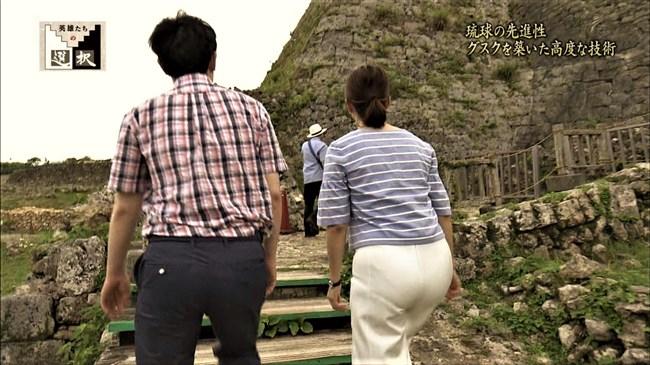 杉浦友紀~英雄たちの選択での沖縄ロケで白ピタパン姿でムッチリ尻でパン線も!0007shikogin