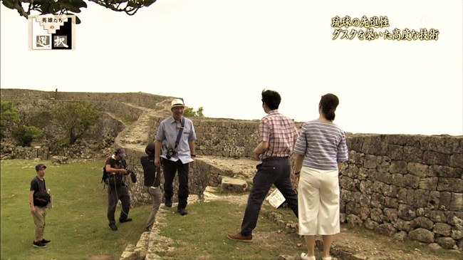 杉浦友紀~英雄たちの選択での沖縄ロケで白ピタパン姿でムッチリ尻でパン線も!0009shikogin