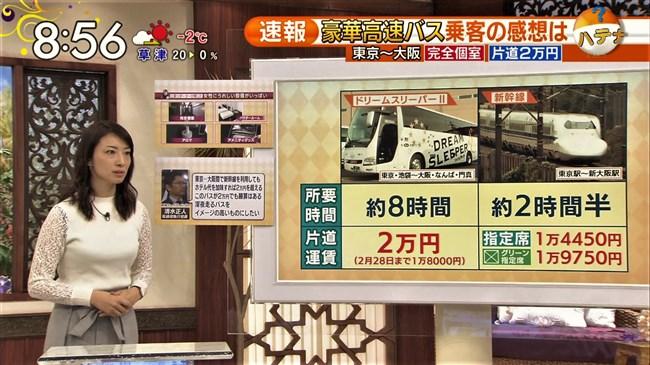 上路雪江~TBSビビットでの新国立競技場レポートで白シャツが汗で透け乳首ポチがモロ!0012shikogin