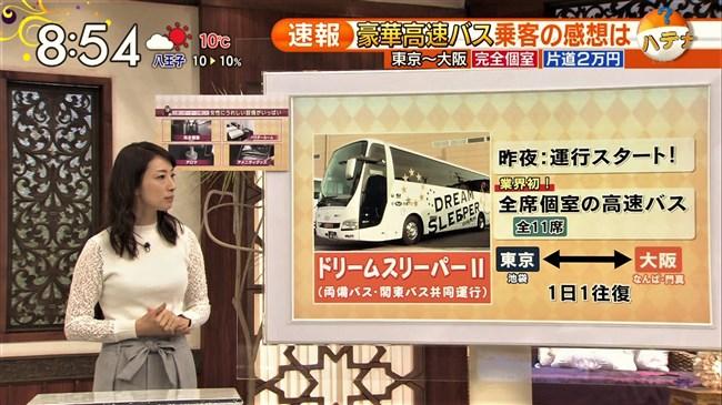 上路雪江~TBSビビットでの新国立競技場レポートで白シャツが汗で透け乳首ポチがモロ!0013shikogin