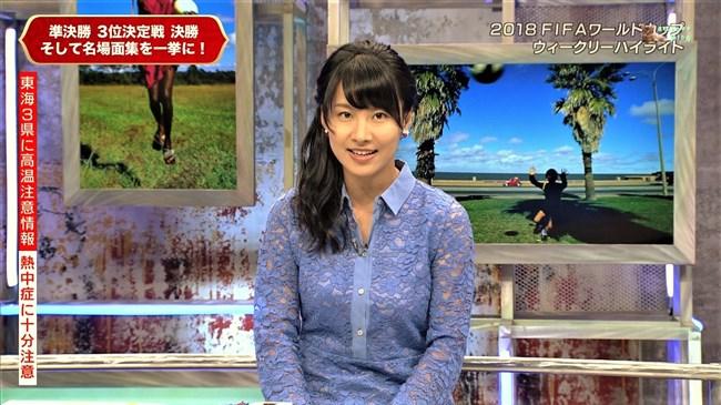 澤田彩香~WCウイークリーハイライトでの少し透けた服の胸の盛り上がりが凄い!0006shikogin