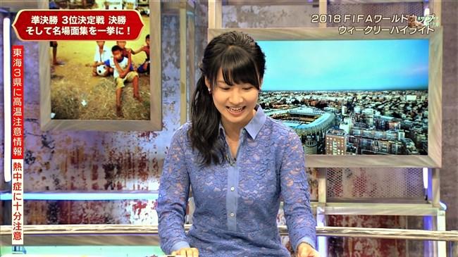 澤田彩香~WCウイークリーハイライトでの少し透けた服の胸の盛り上がりが凄い!0009shikogin