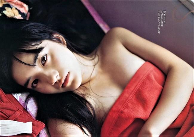 小島藤子~FLASHグラビアは水着姿じゃないけどオッパイ見えてて超エロ美しく最高!0003shikogin